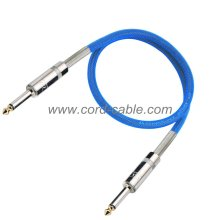 DML Series Instrument Guitar Cable Jack to Jack Blue Nylon Jacket
