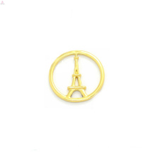 ODM customer gold product angle wing cross pendant floating plate charms