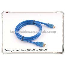 Transparentes blaues HDMI Kabel für 1080p PS3 HDTV