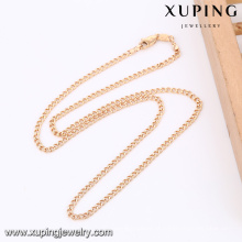 43070 -Xuping Atacado Mini Gold Women Necklace Jewellries