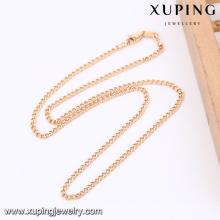 43070 -Xuping Atacado Mini Gold Women Necklace Jewellries
