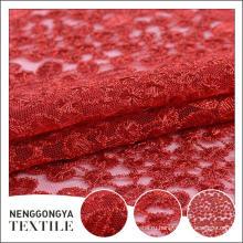 Сделано в Китае Профессиональный участник полиэстер вышитые ткани для новобрачных
