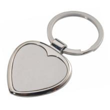 Porte-clés personnalisé en métal à coeur personnalisé avec logo (F1186)