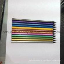 Conjunto de lápis de cor de madeira preta