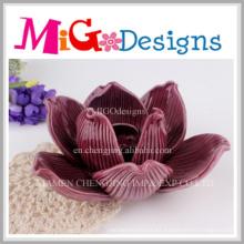 Ornamentos de la boda Titular de vela de la flor hecha a mano de porcelana