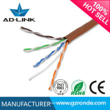 electrical cable LSZH RoHS PVC PE jacket OFC conductor pass fluke 100 meters utp cable network cable