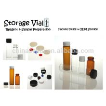 10ml Reagenz & Pulver Klarglas Speicher Durchstechflaschen