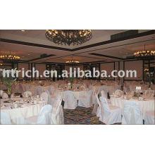100% poliéster cadeira cobre, hotel/banquete, faixa de Organza