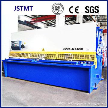 Metal Steel Sheet Plate Cutting CNC Hydraulic Guillotine Shearing Machine (QC12Y-12X3200)