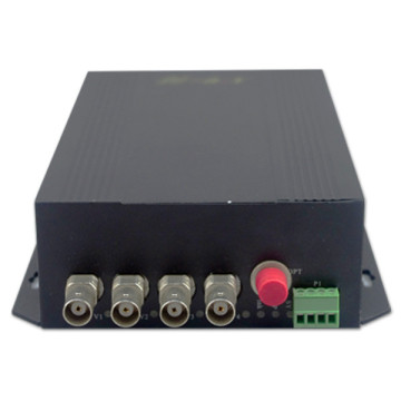 4 Channel CCTV Video to Fiber Optical Converter