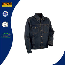 Men Heavyweight Wearable Washed Denim Work Jacket
