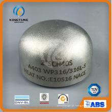 Encaixe de tubulação de aço inoxidável 304 / 304L Cap com ISO9001: 2008 (KT0292)