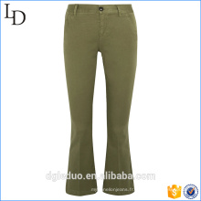 Pantalon personnalisé mode fantaisie déchiré bell-bottoms jeans pantalon évasé pour les femmes