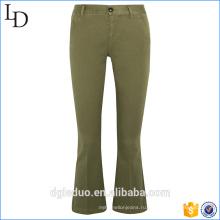 Пользовательские брюки мода модные рваные джинсы-клеш джинсы-клеш брюки для женщин