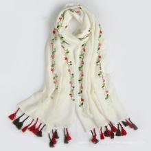 Hangzhou fábrica nova chegada vendas quentes barato simples OEM mulheres lenço de cabeça muçulmano
