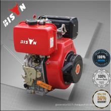 Bison Taizhou Chine Cylindre simple refroidi à l'air 5.5HP 178F Meilleur moteur de pompe à eau