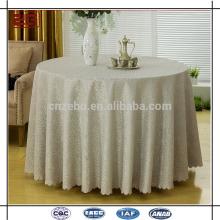 Tela de tabla de lujo de alta calidad Jacquard de lujo de la boda