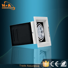 High Power SMD3030 Embedded 7W LED Grille Light