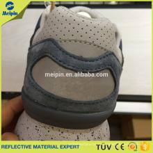 Material reflectante de la PU de la plata de la alta visibilidad para los zapatos o las bolsas que se divierten