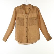 Chemises teinture en lin avec deux poches