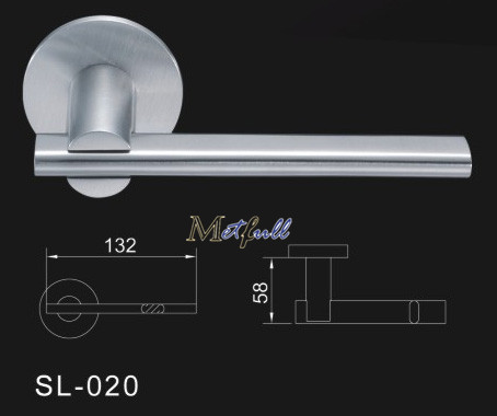 Flat Tube Solid Lever Handle