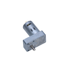 12V High Torque Low rpm dc Gear Motor With Flat Gearbox Parallel Shaft Dual Shaft Available KM-40F550