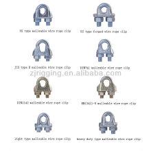 clip de câble métallique malléable de type américain