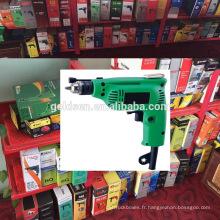 Inde Hot Sales 6.5mm / 10mm 230w Power Portable Mini foret manuelle à main Petite perceuse électrique droite