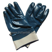 Heavy Duty Fullly Nitrile Coated Gloves Safety Industrial Work Glove
