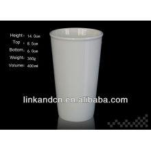 Tasse à double paroi en céramique de haute qualité avec couvercle