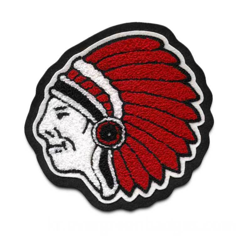 Chief 9 Chenille Mascot Patch 24234