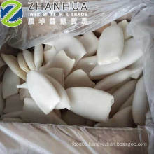 Frozen Cleaned Squid Tube Todarodes Pacificus Tube U10 U7 U5 White Color EU Chemical Treated Carton Packing Philippines Malaysia