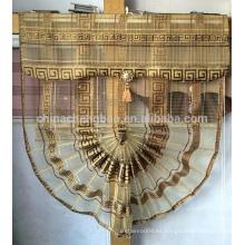 Oro cortinas en forma de abanico estilo cortina romana para dubai