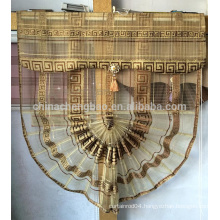 Gold sheer fan-shaped curtain styles roman blind curtain for dubai