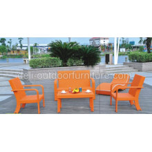 Meubles de jardin Sofa en osier couleur Orange