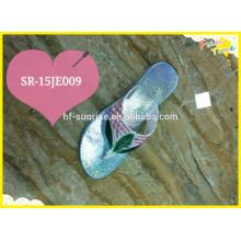 2015 Neue Damen Flip Flop Slipper Schuhe mit Farbe Obermaterial und Sohle