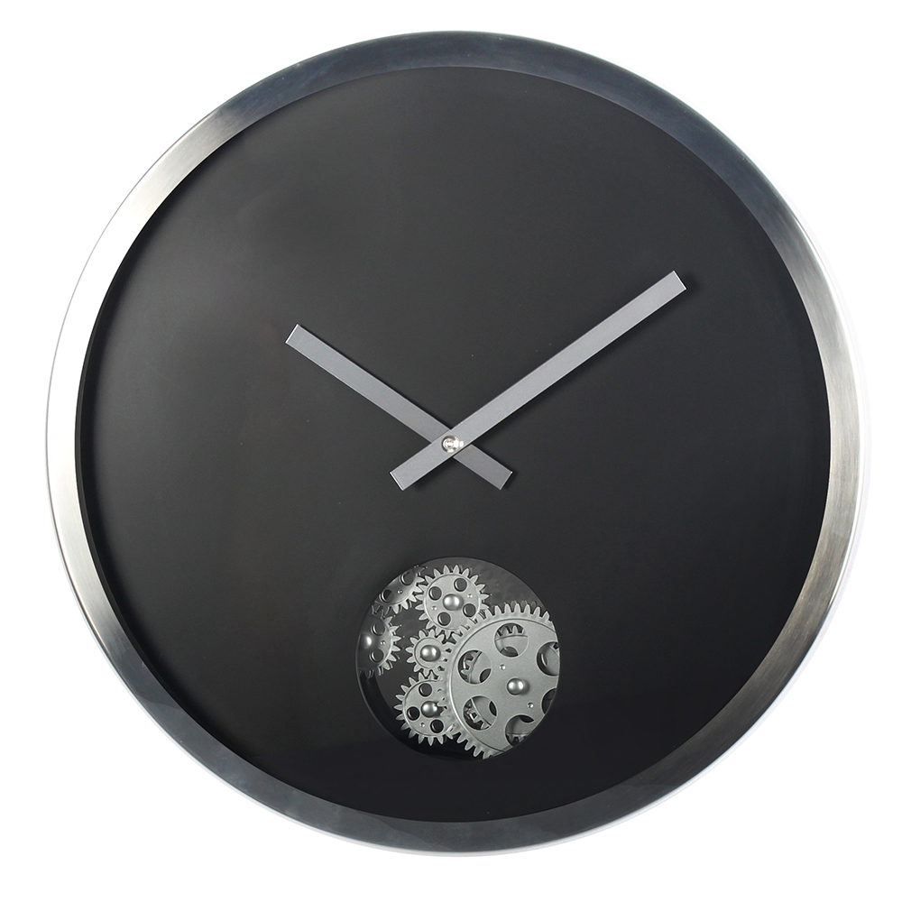 12-Inches Metal Gear Walll Clock With A Circle