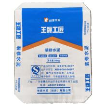 Зеленая защитная пластиковая тканая сумка для строительных материалов