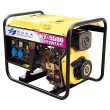 Generador diesel portátil de 1 / 3phase 5kw / 6.5kVA del marco abierto