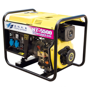 Générateur diesel portatif 1 / 3phase 5kw / 6.5kVA de cadre ouvert