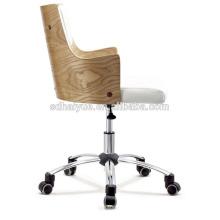HY2015 выдвиженческий черный белый кожаный представительский офисный стол компьютерный стул