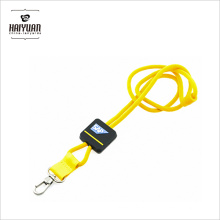 Custom EDM Double Clip Round Rope Cuir Polyester Plain Football Square Retractable Lanyard