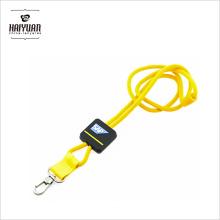 Custom EDM Doppel-Clip Runde Seil Leder Polyester Plain Football Square Einziehbare Lanyard