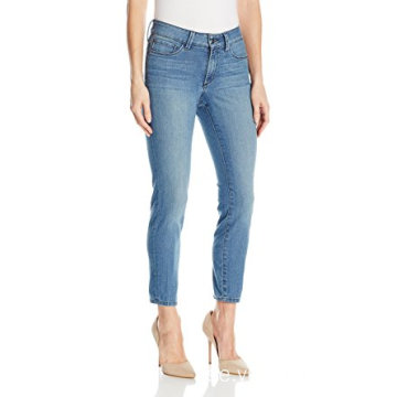 Kvinnors Petite Size Skinny Cabriolet Ankle Jeans