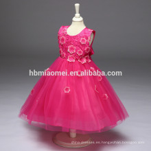 Venta al por mayor 2 3 4 5 6 7 años vestido de niña 2017 Baby Girl Party Dress diseños de vestidos de niños