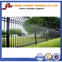 Quality-Assured Black Fashion and Brief Angle Head Iron Fence Panel