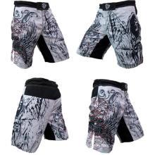 Custom MMA Shorts Sublimated Print 4 Way Stretch Crossfit Shorts Wholesale
