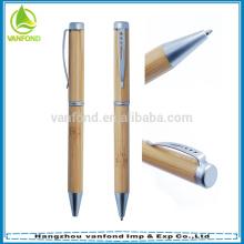 Material de oficina por mayor, haga clic en Bambo Pen como regalo de empresa