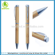 Artigos de papelaria do escritório por atacado clique Bambo caneta como presente do negócio