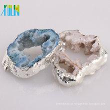 Pingentes de Druzy Geode de jóias de moda de fatia de ágata